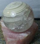 Шар из Горного Хрусталя на подставке из розового кварца